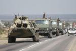 Kiev, combattimenti contro blindati Russi