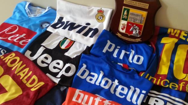 magliette calcio contraffatte, palermo, Sicilia, Archivio
