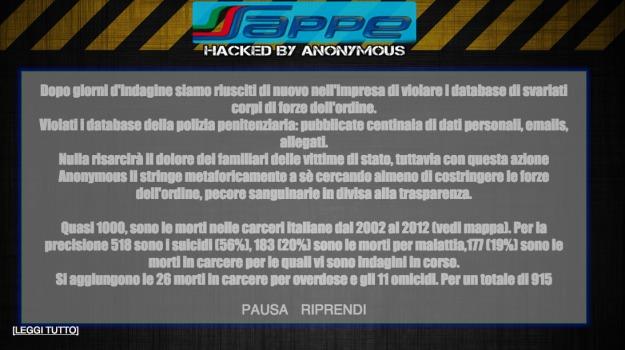 anonymous, polizia penitenziaria, sito del sappe, Sicilia, Archivio, Cronaca