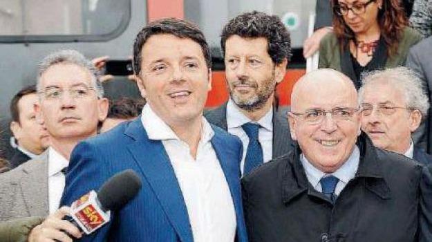 assemblea pd, mario oliverio, matteo renzi, Cosenza, Calabria, Archivio