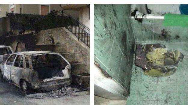 massa s. lucia, vetture in fiamme, Messina, Archivio