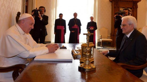 papa francesco, sergio mattarella, Sicilia, Archivio, Cronaca