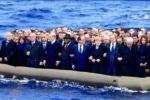 Leader europei sul gommone, foto virale