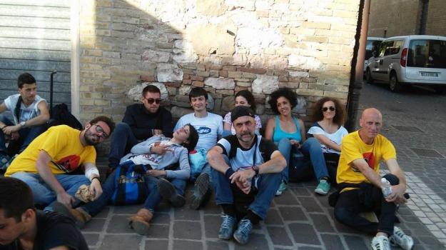 assisi, m5s, marcia, meetup cosenza, reddito cittadinanza, Cosenza, Archivio