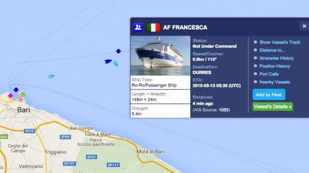 300 a bordo, durazzo, incendio su traghetto al largo bari, puglia, Sicilia, Archivio, Cronaca