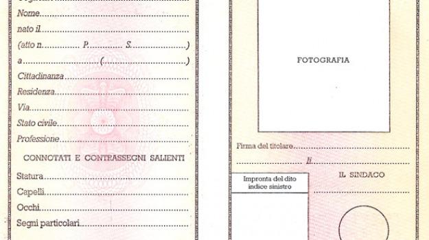 carta d'identità, donatore organi, Messina, Archivio