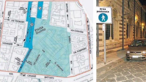 area pedonale duomo, Messina, Archivio