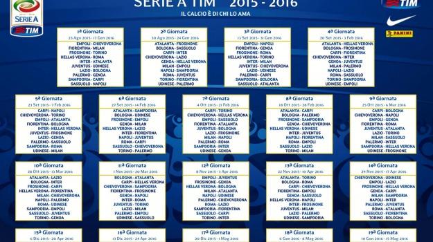 calendario 2015, calendario serie a 2015, calendario serie a 2015/16, serie a, Sicilia, Archivio, Sport