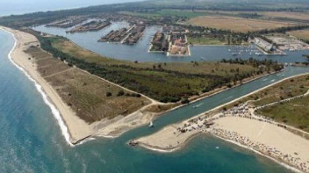 canale stombi, insabbiamento, provincia cosenza, Calabria, Archivio
