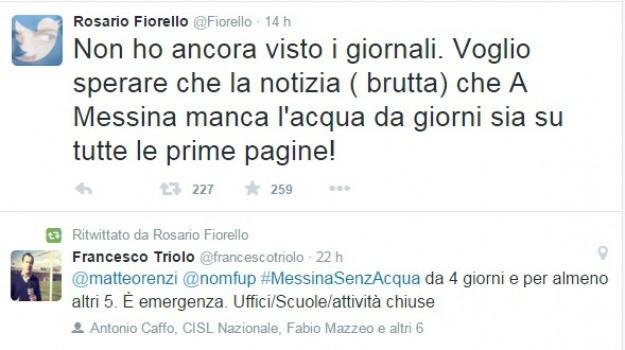 fiorello, messinazenzacqua, twitter, Messina, Archivio