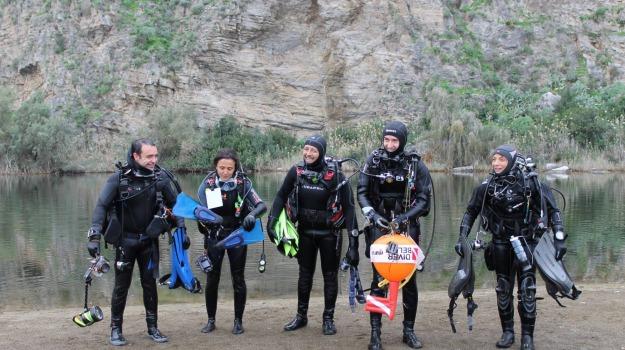 escursione subacquea, lago verde, marinello, Messina, Archivio