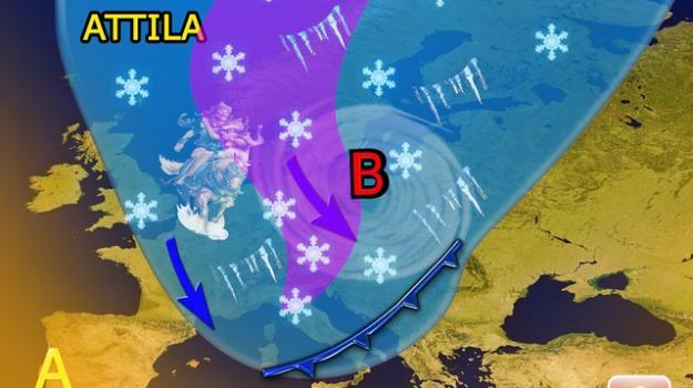 attila, calabria, freddo, maltempo, neve, sicilia, Sicilia, Calabria, Archivio