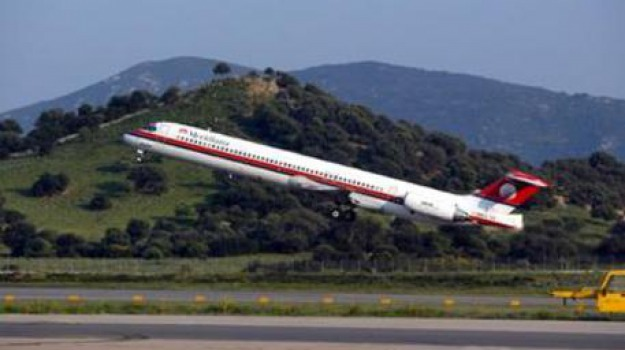 aereo perde una ruota, catania, Sicilia, Archivio