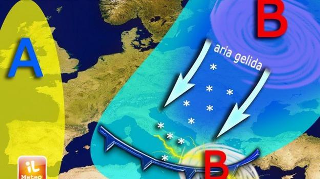 calabria, freddo, neve, pioggia, sicilia, Sicilia, Calabria, Archivio