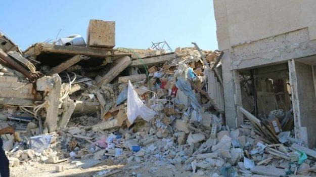 crollo, edificio, siria, Sicilia, Cronaca