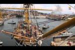 L'Amerigo Vespucci in mare dopo i lavori di carenamento