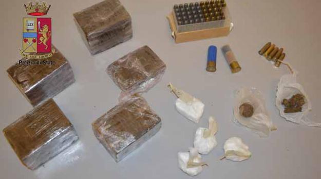 droga e armi arresto, settineri, Messina, Archivio