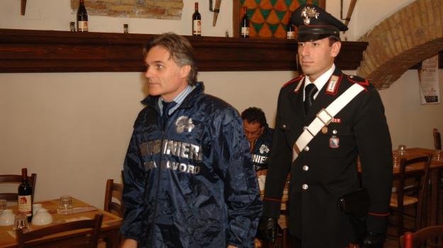 controlli carabinieri, lavoro nero, Messina, Archivio