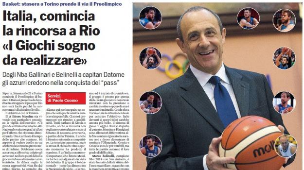 basket, italbasket, olimpiadi, Sicilia, Archivio, Sport