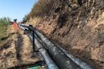Foto: incendio devasta i tubi dell'acquedotto