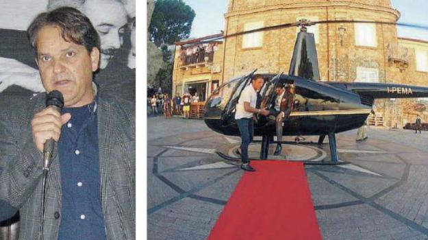 elicottero in piazza, nicotera, Catanzaro, Archivio
