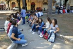 Studenti Seguenza lezione in piazza, guarda la Gallery