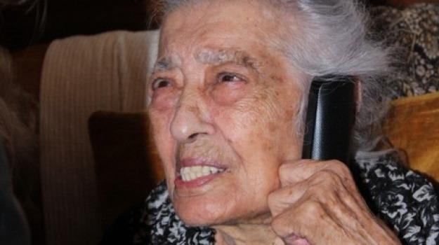 111 anni, canicattì, Diega Cammalleri, Sicilia, Archivio