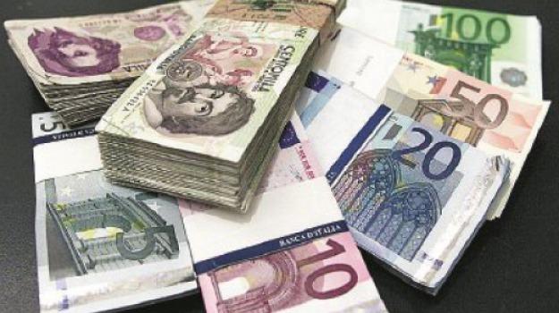 banca d'italia, euro, lire, tesoro, Messina, Archivio