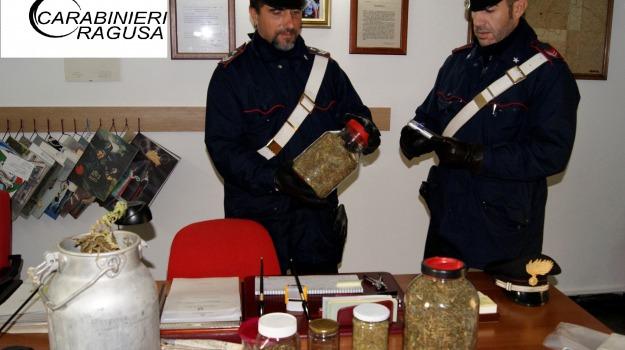 arrestato un uomo di 52 anni, ragusa, Sequestro marijuana, Sicilia, Archivio