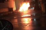 Incendiata auto di imprenditore (video)