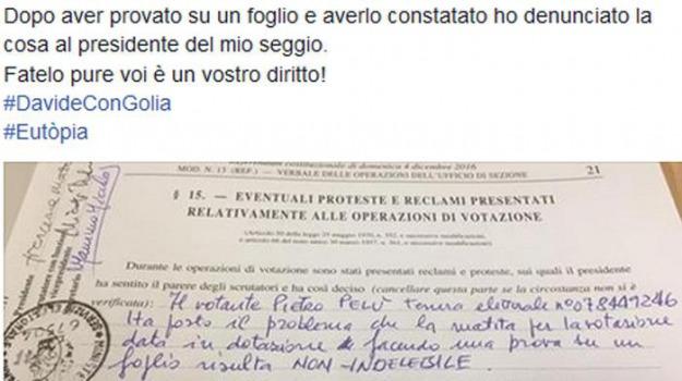 matita copiativa, referendum costituzionale, Sicilia, Archivio, Cronaca