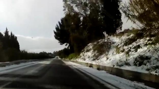 autostrada, ghiaccio, maltempo, neve, Messina, Sicilia, Archivio
