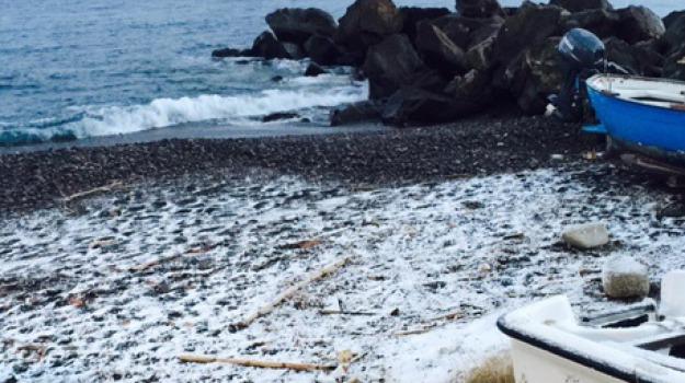 isole eolie, neve, spiagge, Messina, Sicilia, Archivio