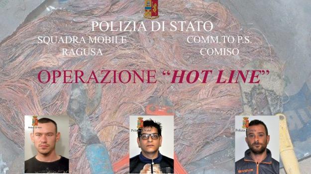 comiso, Furto cavi telefonici, operazione Hot Line, Sicilia, Archivio