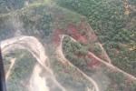 Il video dall'alto dei danni alla sp 25 e alla condotta acquedotto