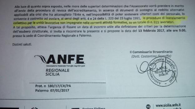 500, ente anfe, licenziamenti, palermo, Sicilia, Archivio