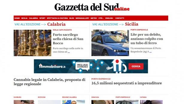 gazzetta del sud online, record, utenti, Sicilia, Calabria, Archivio