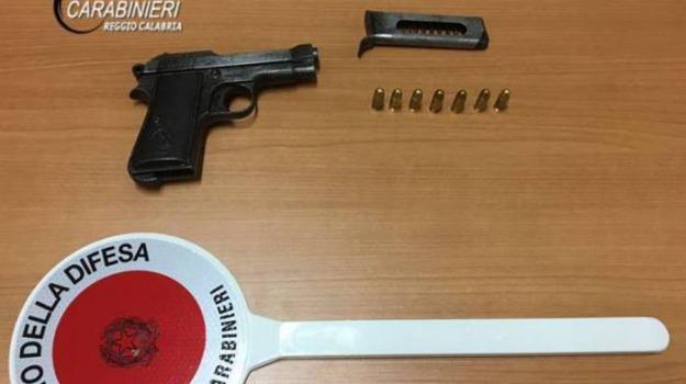 arrestato, pistola, reggio calabria, rizziconi, Reggio, Calabria, Archivio