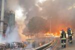 Ex inceneritore di Pace, una giornata all'inferno