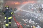 Il video dell'incendio a Pace
