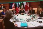 """G7, prima sessione del vertice: unità nella lotta al terrorismo, Trump """"isolato"""" sul clima"""