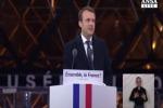 """Francia: il trionfo di Macron, """"difendo Francia ed Europa"""""""