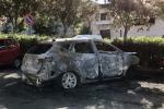 Un'altra auto bruciata nella notte