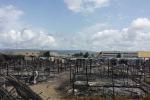 A fuoco le baracche dei migranti