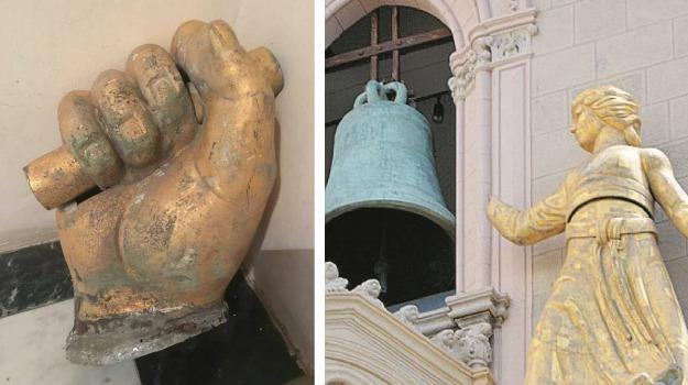 clarenza, duomo di messina, mano, restauro, Messina, Archivio
