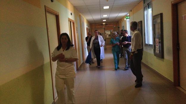 Ispezione nuovo ospedale, ragusa, sanità, Sicilia, Archivio
