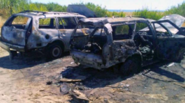 ambulanti, auto bruciate, Cosenza, Calabria, Archivio