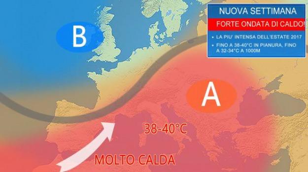 caldo, ondata di calore, Sicilia, Calabria, Archivio