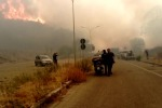 Annunziata, fiamme accanto all'Università VIDEO