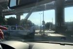 Cadono calcinacci dal viadotto, lunghe code a Messina Centro